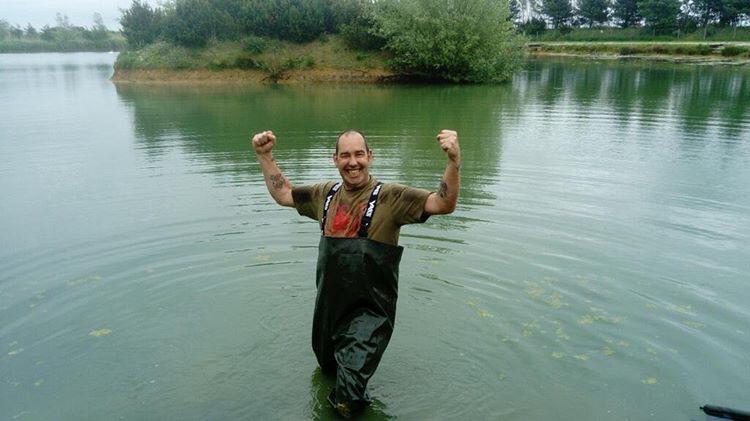 That's one happy carp angler!